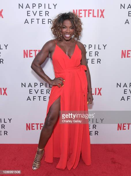 Johnson attends a screening of Netlfix's 'Nappily Ever After' at Harmony Gold Theatre on September 20 2018 in Los Angeles California