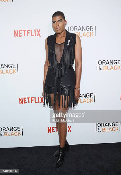 Johnson attends Orange Is The New Black New York City Premiere at SVA Theater on June 16 2016 in New York City