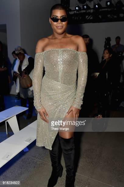 Johnson attends the Laquan Smith front row during New York Fashion Week The Shows at Gallery I at Spring Studios on February 14 2018 in New York City