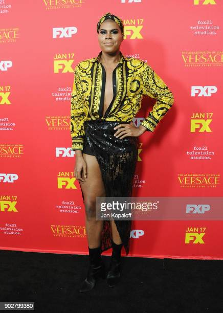 Johnson attends the Los Angeles Premiere 'The Assassination Of Gianni Versace American Crime Story' at ArcLight Hollywood on January 8 2018 in...