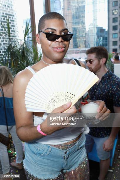 Johnson attends the #NYLONPride Event 2018 at The Dream Midtown Hotel on June 24 2018 in New York City