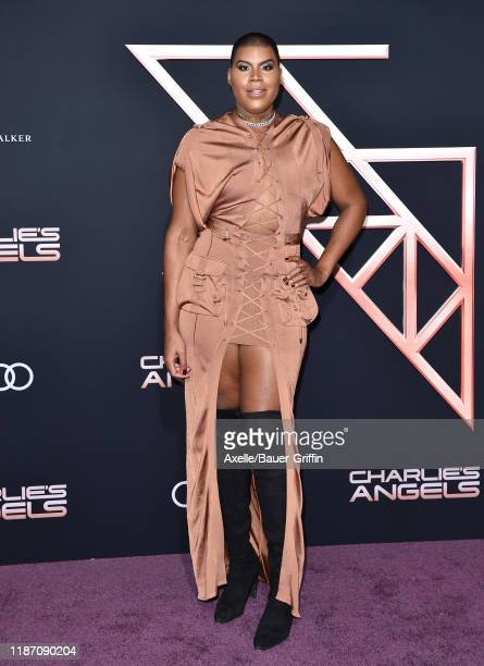 Johnson attends the Premiere of Columbia Pictures' Charlie's Angels at Westwood Regency Theater on November 11 2019 in Los Angeles California