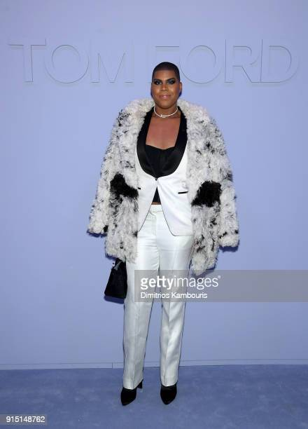 Johnson attends the Tom Ford Fall/Winter 2018 Men's Runway Show at the Park Avenue Armory on February 6 2018 in New York City