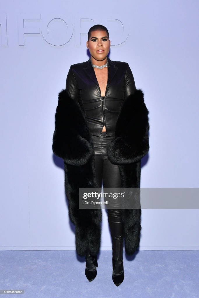 EJ Johnson attends the Tom Ford Women's Fall/Winter 2018 fashion show during New York Fashion Week at Park Avenue Armory on February 8, 2018 in New York City.