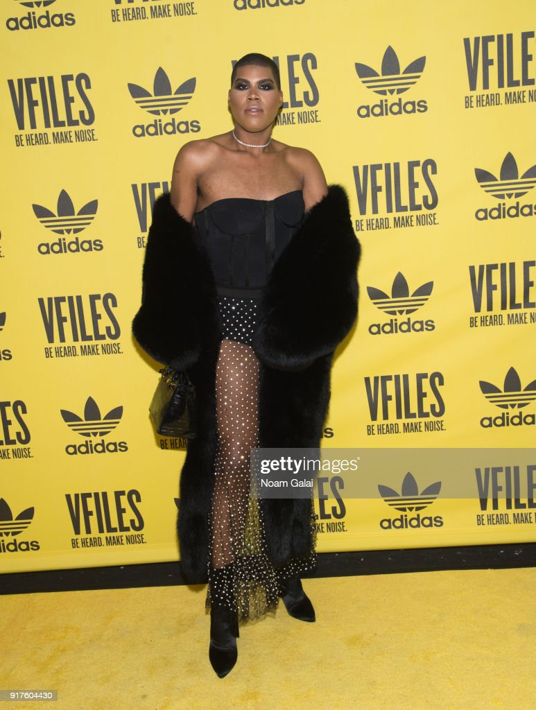 EJ Johnson attends the VFILES fashion show during New York Fashion Week at Terminal 5 on February 12, 2018 in New York City.