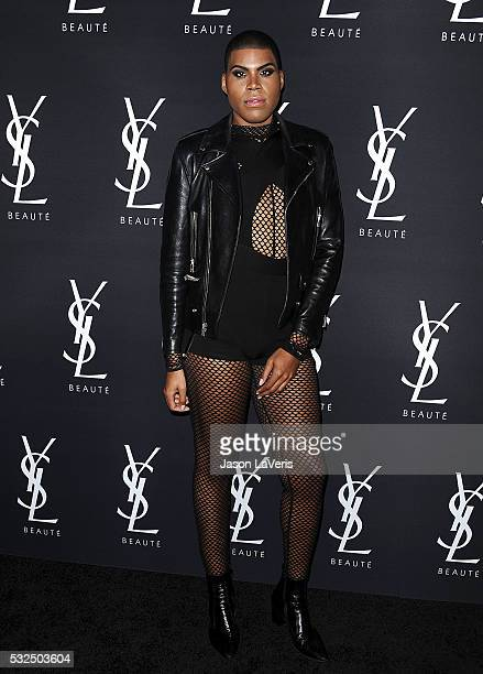 Johnson attends the Yves Saint Laurent Beauty event at Gibson Brands Sunset on May 18 2016 in Los Angeles California