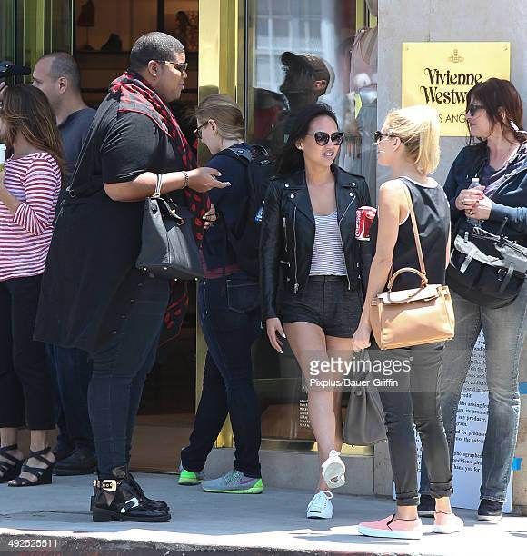 Johnson Dorothy Wang Morgan Stewart filming Rich Kids of Beverly Hills on May 20 2014 in Los Angeles California