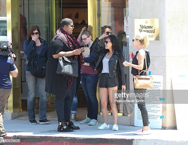 Johnson Dorothy Wang Morgan Stewart filming 'Rich Kids of Beverly Hills' on May 20 2014 in Los Angeles California