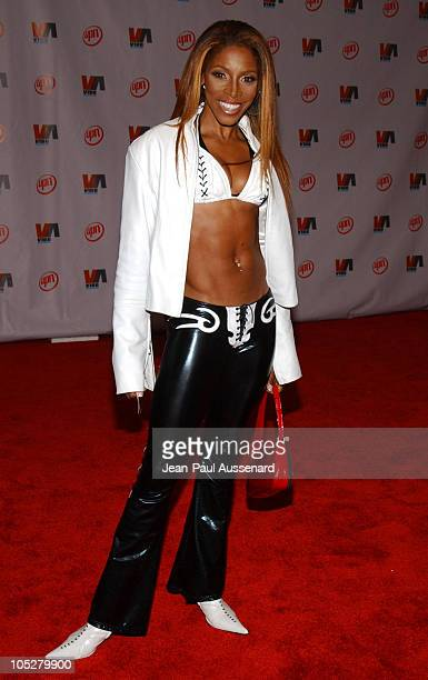 AJ Johnson during 2003 VIBE Awards Arrivals at Civic Auditorium in Santa Monica California United States