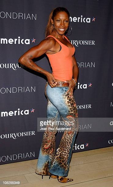 AJ Johnson during America Magazine Launch Party Arrivals at Skybar at Mondrian in Los Angeles California United States
