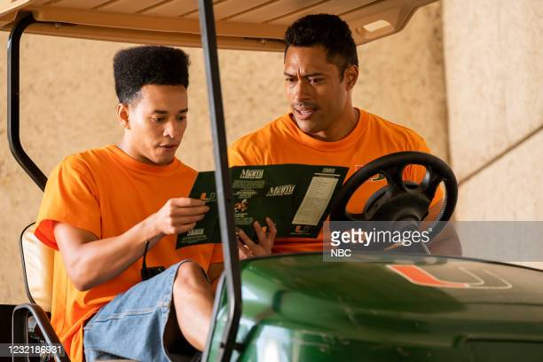 "Johnson & Hopkins"" Episode 107 -- Pictured: Dominic D. Goodman as Hopkins, Uli Latukefu as Dwayne --"