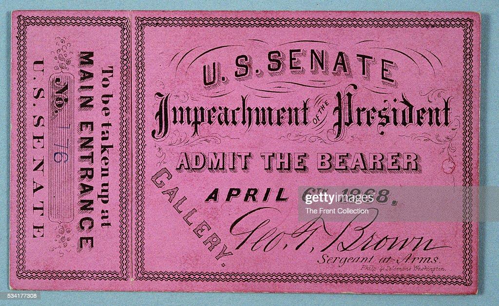 Johnson Impeachment Ticket
