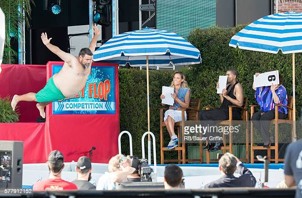 Johnson is seen at 'Jimmy Kimmel Live' on July 19 2016 in Los Angeles California