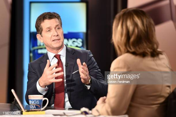 Johnson Johnson CEO Alex Gorsky visits Mornings With Maria at Fox Business Network Studios on May 8 2019 in New York City