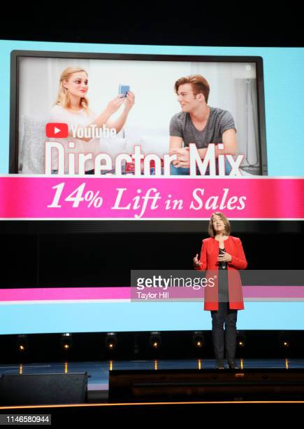 Johnson Johnson Global CMO Alison Lewis onstage at YouTube Brandcast 2019 at Radio City Music Hall on May 02 2019 in New York City