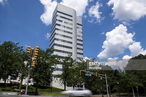 Johnson & Johnson headquarters stands in New Brunswick, New Jersey, U.S., on Saturday, Aug. 1, 2020. Johnson & Johnson's experimental coronavirus...