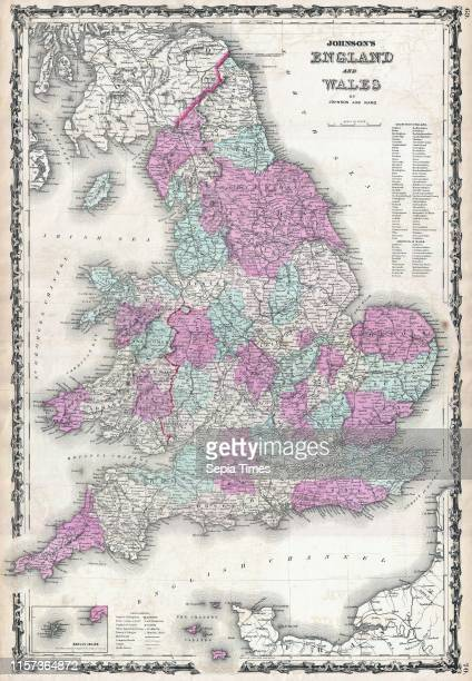 1862 Johnson Map of England and Wales