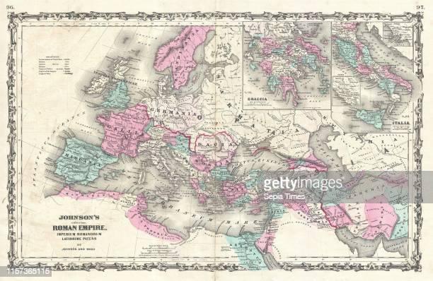 1862 Johnson Map of the Roman Empire
