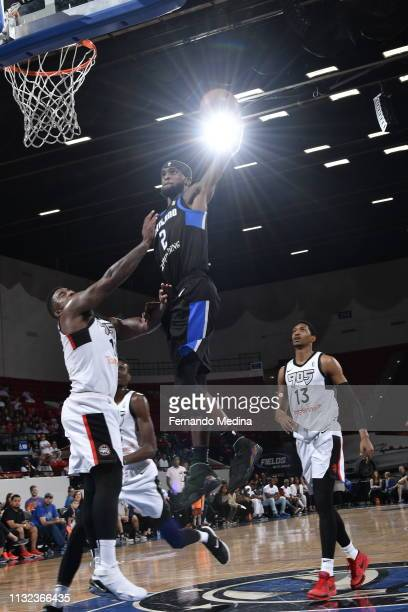 Johnson of the Lakeland Magic dunks against the Raptors 905 during the game on March 23, 2019 at RP Funding Center in Lakeland, Florida. NOTE TO...