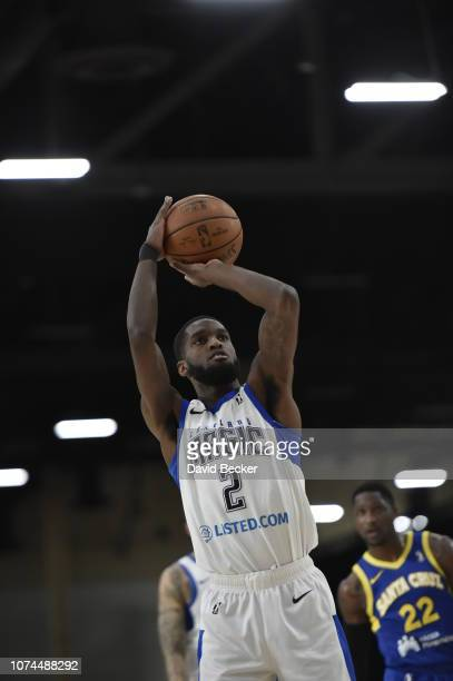 Johnson of the Lakeland Magic shoots free throw against the Santa Cruz Warriors during the NBA G League Winter Showcase on December 20, 2018 at...