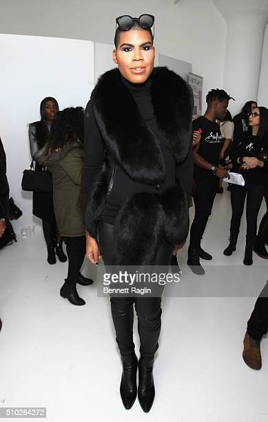 Johnson poses during SheaMoisture at Laquan Smith F/W 2016 NYFW at Jack Studios on February 14 2016 in New York City