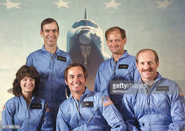 Johnson Space Center Houston Texas These five astronauts represent the Space Transportation System's first fivemember crew They will be aboard the...