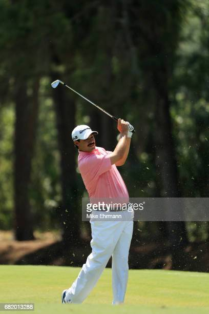 Johnson Wagner of the United States plays a shot on the tenth hole during the first round of THE PLAYERS Championship at the Stadium course at TPC...