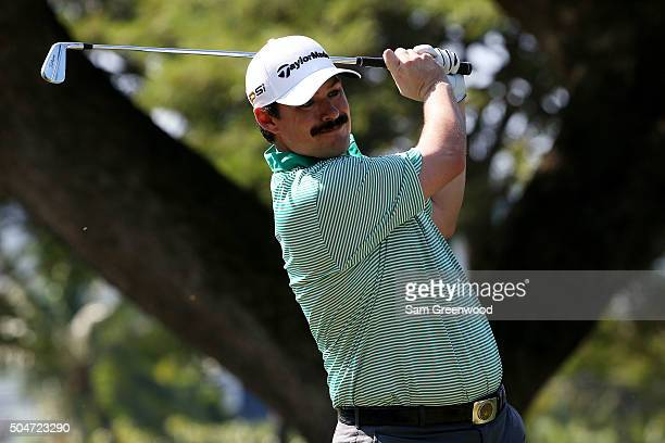 Johnson Wagner plays a shot during practice rounds prior to the Sony Open In Hawaii at Waialae Country Club on January 12 2016 in Honolulu Hawaii