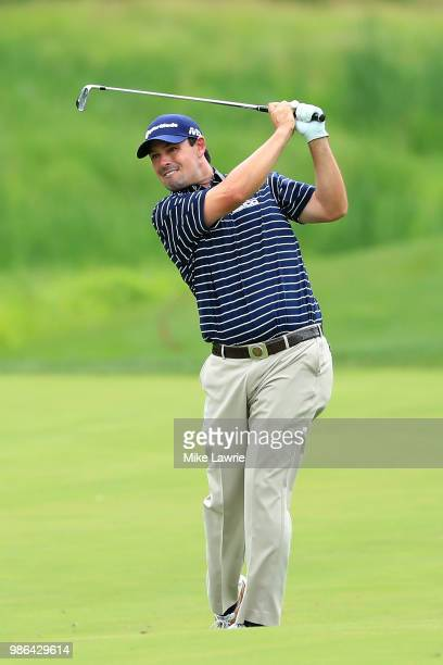 Johnson Wagner plays a shot on the sixth fairway during the first round of the Quicken Loans National at TPC Potomac on June 28 2018 in Potomac...