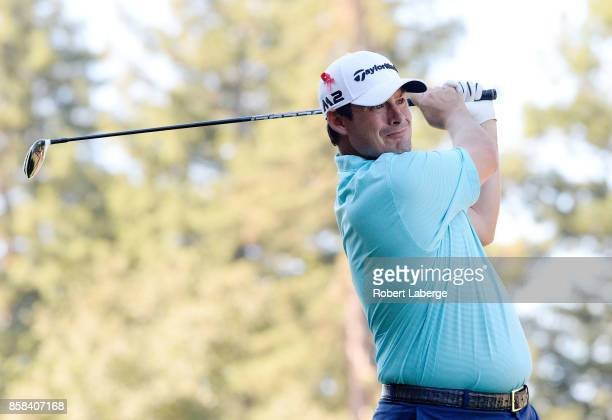 Johnson Wagner plays his shot from the 12th tee during the second round of the Safeway Open at the North Course of the Silverado Resort and Spa on...