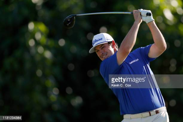 Johnson Wagner plays his shot from the 15th tee during the first round of the Puerto Rico Open at Coco Beach Golf and Country Club on February 21...