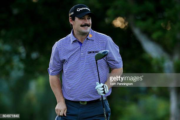 Johnson Wagner plays his shot from the first tee during the first round of the Sony Open In Hawaii at Waialae Country Club on January 14 2016 in...
