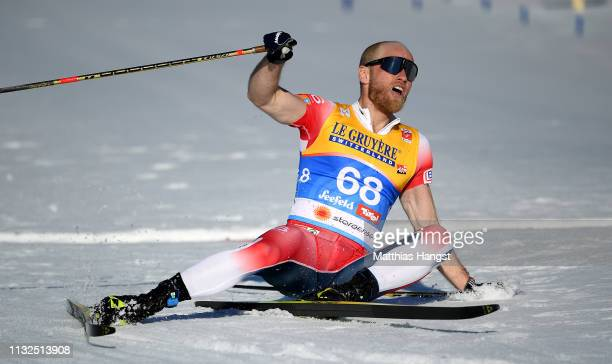 Johnsrud Marty Sundby of Norway celebrates after he wins the gold medal in the Cross-Country Men's 15k race of the FIS Nordic World Ski Championships...