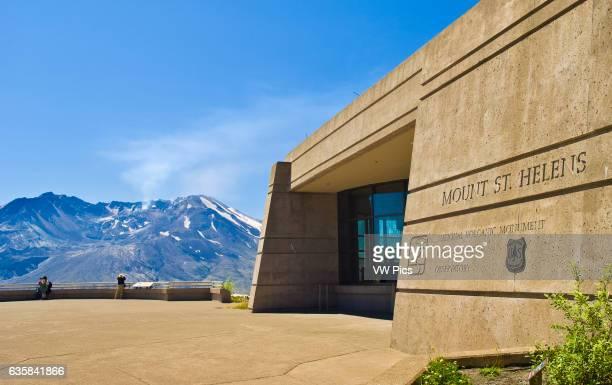 Johnston Ridge Observatory Visitor Center; Mount St. Helens National Volcanic Monument, Washington.