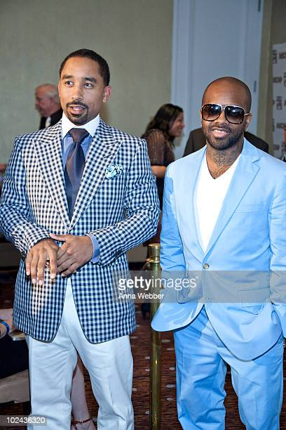 Johnta Austin and Jermaine Dupri attend The 23rd Annual ASCAP Rhythm Soul Music Awards at The Beverly Hilton hotel on June 25 2010 in Beverly Hills...