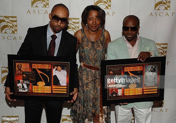 Johnta Austin Jeanie Weems of ASCAP and Jermaine JD Dupri