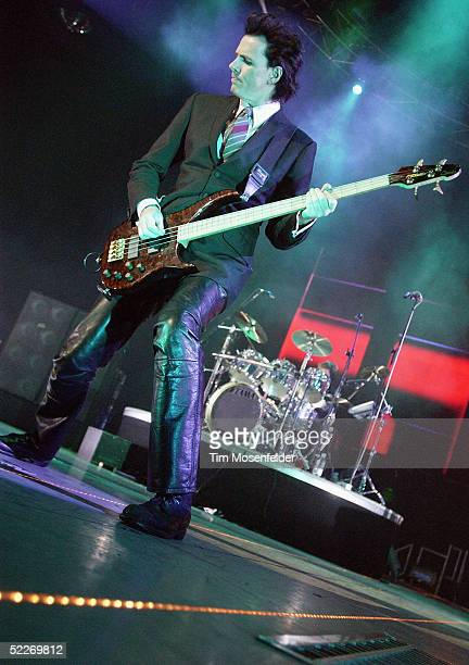 JohnTaylor and Roger Taylor of Duran Duran perform in support of the band's 'Astronaut' and 'Singles' releases at The HP Pavilion on March 2 2005 in...