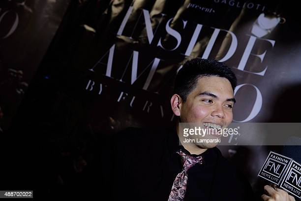 Johnwalf Brigoli attends 'Inside Amato' New York premiere at Liberty Theater on September 16 2015 in New York City