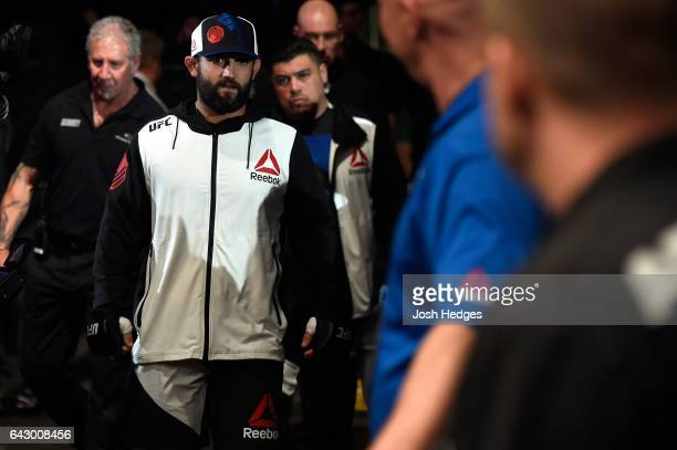 Johny Hendricks enters the arena prior to facing Hector Lombard of Cuba in their middleweight fight during the UFC Fight Night event inside the...