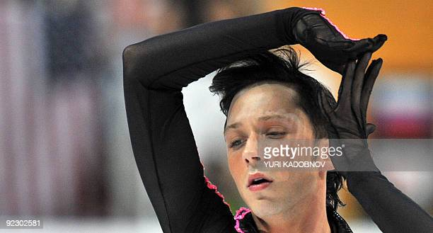 Johny Weir of USA performs his short program at the ISU Grand Prix Rostelecom Cup in Moscow on October 23 2009 AFP PHOTO / YURI KADOBNOV