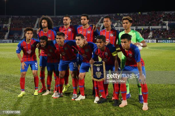 Johor Darul Ta'zim poses for photographs prior to kick off during the AFC Champions League Group E match between Johor Darul Ta'zim and Gyeongnam at...