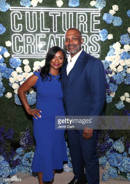 Joi Brown and Howard Lindsay attend the Culture Creators Innovators & Leaders Awards at The Beverly Hilton on June 26, 2021 in Beverly Hills,...