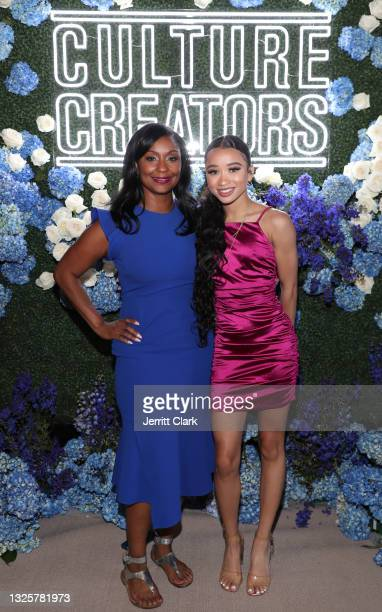 Joi Brown and Jasmin Corley attend the Culture Creators Innovators & Leaders Awards at The Beverly Hilton on June 26, 2021 in Beverly Hills,...