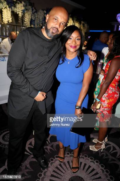 Joi Brown attends the 5th Annual Innovators & Leaders Awards Brunch hosted by Culture Creators at The Beverly Hilton on June 26, 2021 in Beverly...