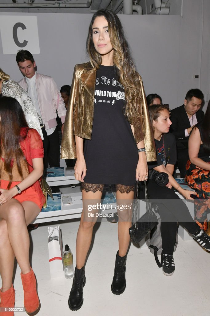 Joice Oliveira attends the Marcel Ostertag fashion show during New York Fashion Week: The Shows at Gallery 3, Skylight Clarkson Sq on September 13, 2017 in New York City.
