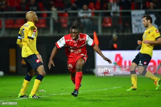 Joie Abdul Majeed WARIS Valenciennes / Sochaux 26eme journee de Ligue 1 Photo Dave Winter / Icon Sport