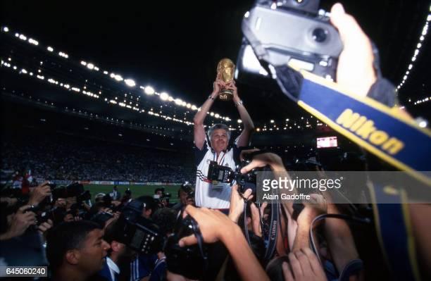 Joie Aime JACQUET / Photographes France / Bresil Coupe du Monde 1998 Photo Alain Gadoffre / Icon Sport