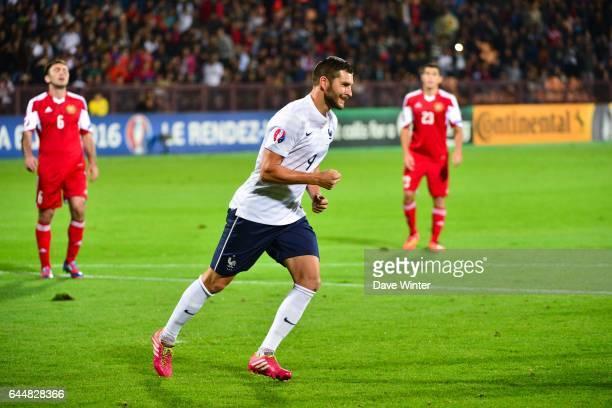 Joie Andre Pierre GIGNAC Armenie / France Eliminatoires Euro 2016 Photo Dave Winter / Icon Sport