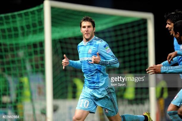 Joie Andre Pierre GIGNAC Auxerre / Marseille 1/2 Finale Coupe de la Ligue
