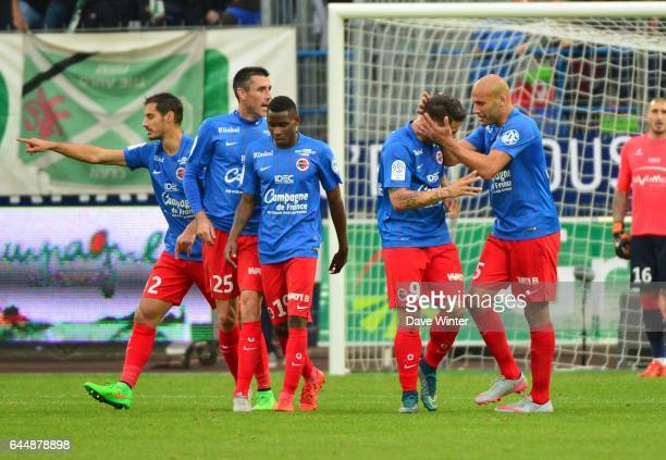 Joie Andy DELORT Caen / St Etienne 9e journee de Ligue 1 Photo Dave Winter / Icon Sport